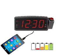 Radio Relógio Despertador Digital Lelong Le-672 Fm Usb E Projetor Hora -