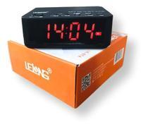 Rádio Relógio Digital Despertador Bluetooth Lelong LE-674 /Fm - Motta Ltomex Exbro