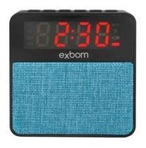 Rádio Relógio Digital Despertador Bluetooth Mp3 Sd Auxiliar - Exbom