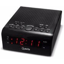 Rádio Relógio Digital Duplo Alarme Quanta Qtrar 4300 Bivolt -