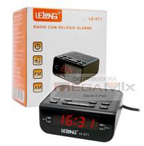 Rádio relógio digital e despertador Lelong 671 -