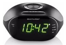 Rádio Relógio Digital e Despertador - Multilaser -  UNICA -