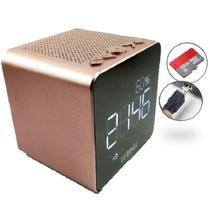 Rádio Relógio FM Bluetooth Despertador Digital LE-673 - Lelong