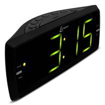 Rádio Relógio Lenoxx RR 736 AM FM Display 1.8 Polegada Despertador Função Soneca Entrada Auxiliar -