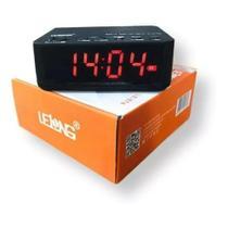 Rádio Relógio Mesa Digital Bluetooth Cartão De Memória - Lelong
