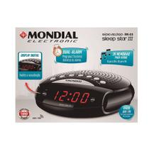 Radio Relógio Mondial RR - 03 Sleep Star III AM/FM Display Digital -