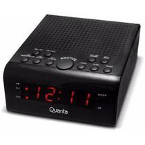 Rádio Relógio Quanta  Digital Duplo Alarme Qtrar 4300 -