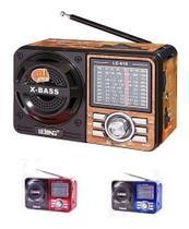 Rádio Retro 4 Faixas Am/fm Portátil, Usb Pendrive, Cartão Sd - YS