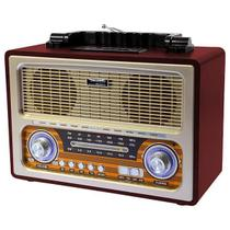 Rádio Retro Bluetooth Am Fm Sw Vintage Recarregavel Usb Sd - Roadstar