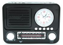 Radio Retro Bluetooth Fm Am Usb Pen Drive Aux Recarregável - Altomex