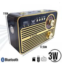 Radio Retro Caixa de Som Portatil Bluetooth Recarregavel - Ybx