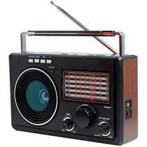 Rádio Retrô Cnn-686 Recarregável Am Fm 3w Rms 4 Ohms - Livstar
