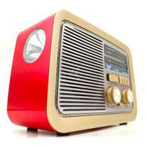 Rádio Retro Vintage Am Fm Sw Usb Bluetooth Bateria Recarregavel 110/220v Madeira Estilo Antigo - Altomex