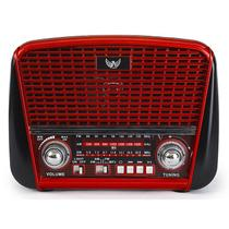 Radio Retro Vintage Am Fm Usb Antigo Bateria Recarregavel - Altomex
