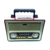 Rádio Retrô Vintage Bluetooth Am Fm Sw Recarregavel Usb Mp3 EL1800 - Importado