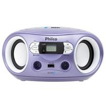 Rádio sem CD com Bluetooth. MP3. FM. Entardas USB. Auxiliar Philco PB122BTL Lavanda