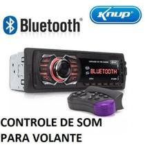 Rádio Som Automotivo Bluetooth Aparelho Controle Volante Usb - Knup