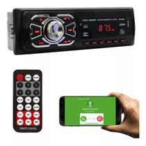 Radio Som Automotivo Mp3 Usb SD Bluetooth Controle Remoto - Ruchi