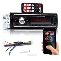 Radio Som Carro Mp3 Auomotivo Veicular Bluetooth Fm Usb Sd - Lx Shop