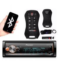 Radio Usb Pioneer Bluetooth Mvh-x300br + Controle Stetsom -
