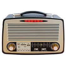Radio Vintage Retro Am Fm Usb Bateria Som Bluetooth Antigo Recarregável - Dmx