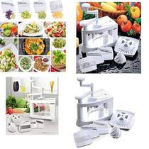 Ralador cortador espremedor espiral de mesa e bancada 8 em 1 para frutas legumes  vegetais multifuncao - MAKEDA