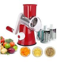 Ralador Cortador Fatiador de Queijo Legumes Frutas ou Verduras - 3 Lâminas em Inox - 123 Útil