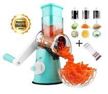Ralador Cortador Fatiador Descascador de Legumes Queijo 3 em 1 MaxChef Original kit -