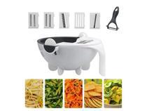 Ralador Fatiador Cortador Legumes Salada Frutas Cozinha Alimentos Ralador Escorredor Multifuncional 7 em 1 -
