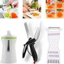 Ralador Picador Cortador Descascador Legumes Frutas Vegetais Kit Cozinha - Fratelli / Clink