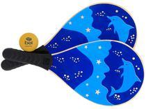 Raquete de Frescobol Bel Fix 481500_AZUL - 2 Peças com Bolinha