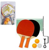 Raquete de ping pong com 2 unidades + 3 bolinhas + suporte + rede mb5002 - Royal Eletronic