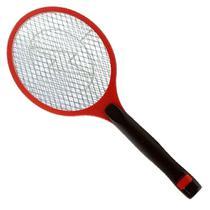 Raquete Elétrica Recarregável Mosca Pernilongo Mosquito Vermelha - Kenko