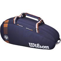 Raqueteira Wilson Roland Garros Tour 3Pk Azul/Marrom -