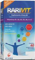 Rarivit 40 cp suplemento vitaminico  globo -