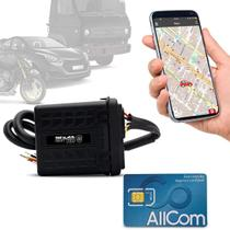 Rastreador Veicular Bloqueador Prova D'Água Shutt + Plano Tim Anual + APP Essential Android e IOS -