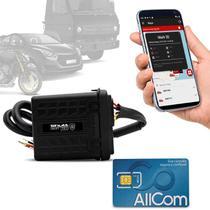 Rastreador Veicular Bloqueador Prova D'Água Shutt + Plano Tim Anual + APP Master Android e IOS -