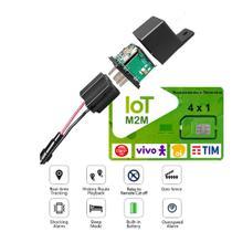 Rastreador Veicular Com Bloqueio Por SMS ou APP Configurado Pronto Pra Uso Com Chip M2M para 30 dias - LKGPS