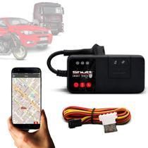 Rastreador Veicular Universal Bloqueador Automotivo Carro Moto Caminhão Android e iOS GPS Shutt Mini -