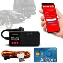 Rastreador Veicular Universal Bloqueador Carro Moto GPS Android e IOS Shutt Mini + Plano Tim Anual -