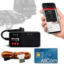 Rastreador Veicular Universal Bloqueador Shutt Mini + Plano Tim Anual + APP Master Android e IOS -