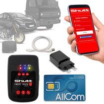 Rastreador Veicular Universal Portátil Shutt Plus Carro Moto Bagagens Android IOS + Plano Tim Anual -