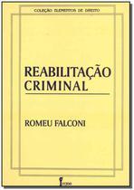 Reabilitacao Criminal - 01Ed/95 - Icone
