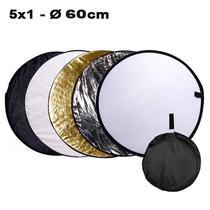 Rebatedor e Difusor Circular 5x1 para Estúdio - 60cm - Leadwin