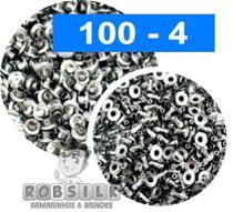 Rebite Niquelado para Pregar -100 peças -Cabeça e pé Pressão - Robsilk