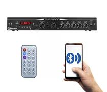 Receiver  home taramps ths 3600 mic usb bt aux som ambient -
