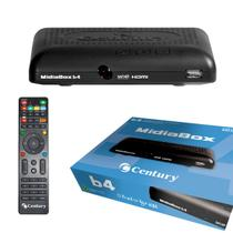 Receptor Century Midia Box caixa Azul HDTV B4 -