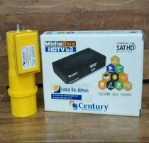 Receptor Century Midiabox B3 com Conversor Digital e Lnbf Monoponto Super Digital -
