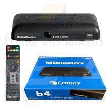 Receptor Century MidiaBox HDTV B4 LANÇAMENTO sem entr UHFVHF -