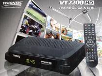 Receptor digital hd para parabólica e uhf visiontec vt2200hd -